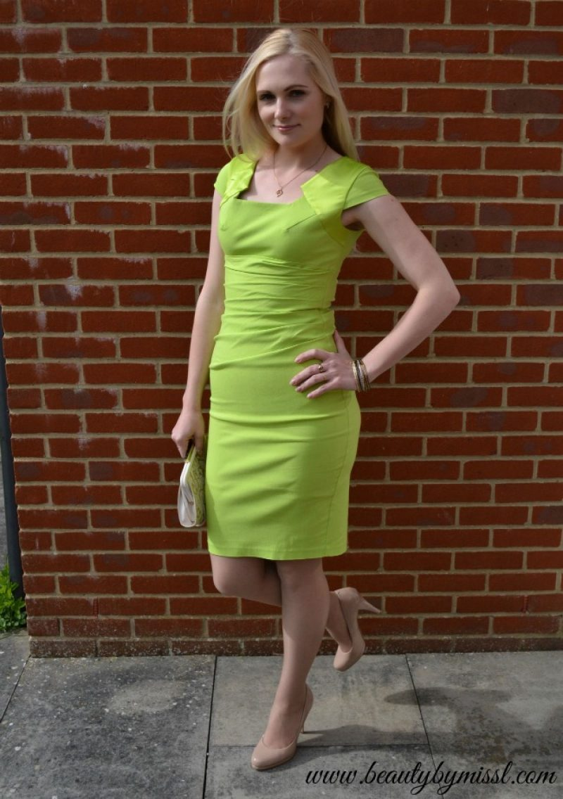 limegreen bodycon dress
