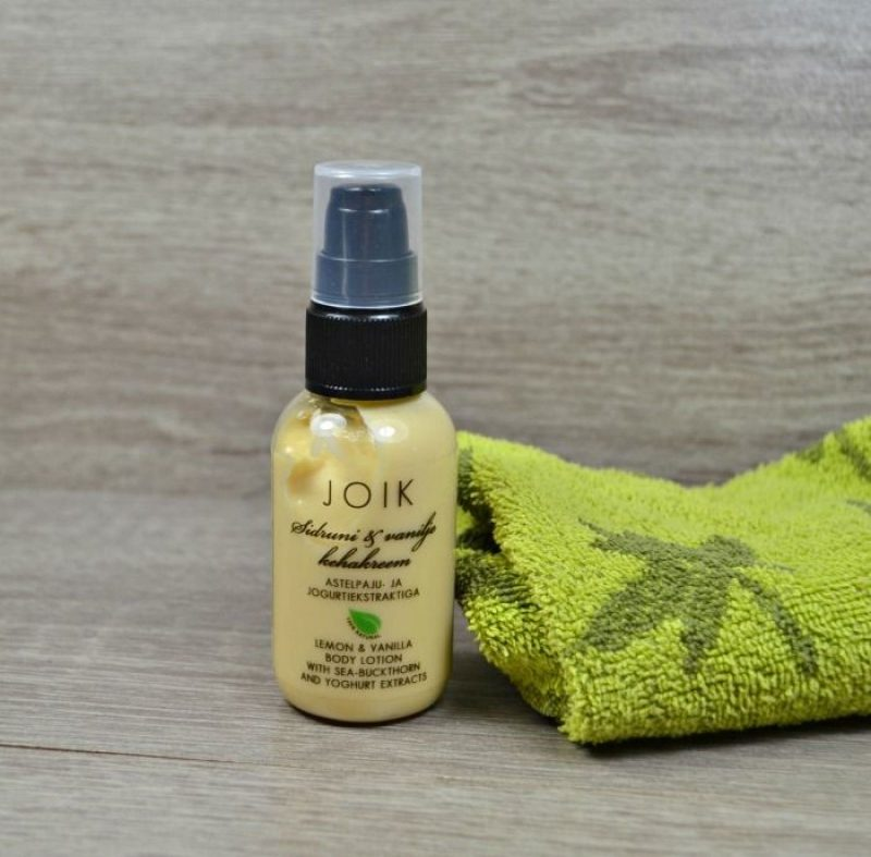 Joik Lemon & Vanilla Body Lotion with sea-buckthorn and yoghurt extracts
