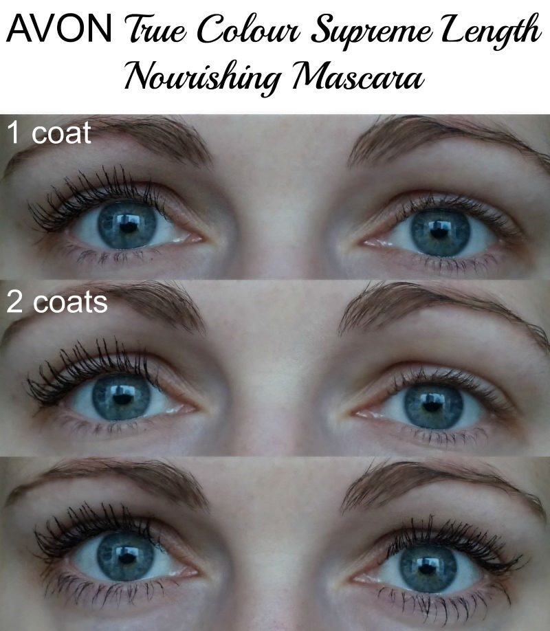 Avon True Colour Supreme Length Nourishing Mascara before and after