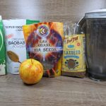 Healthy Kefir Apple Smoothie with Chia and Flaxseed and Baobad powder