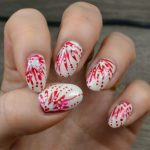ivory and red nails