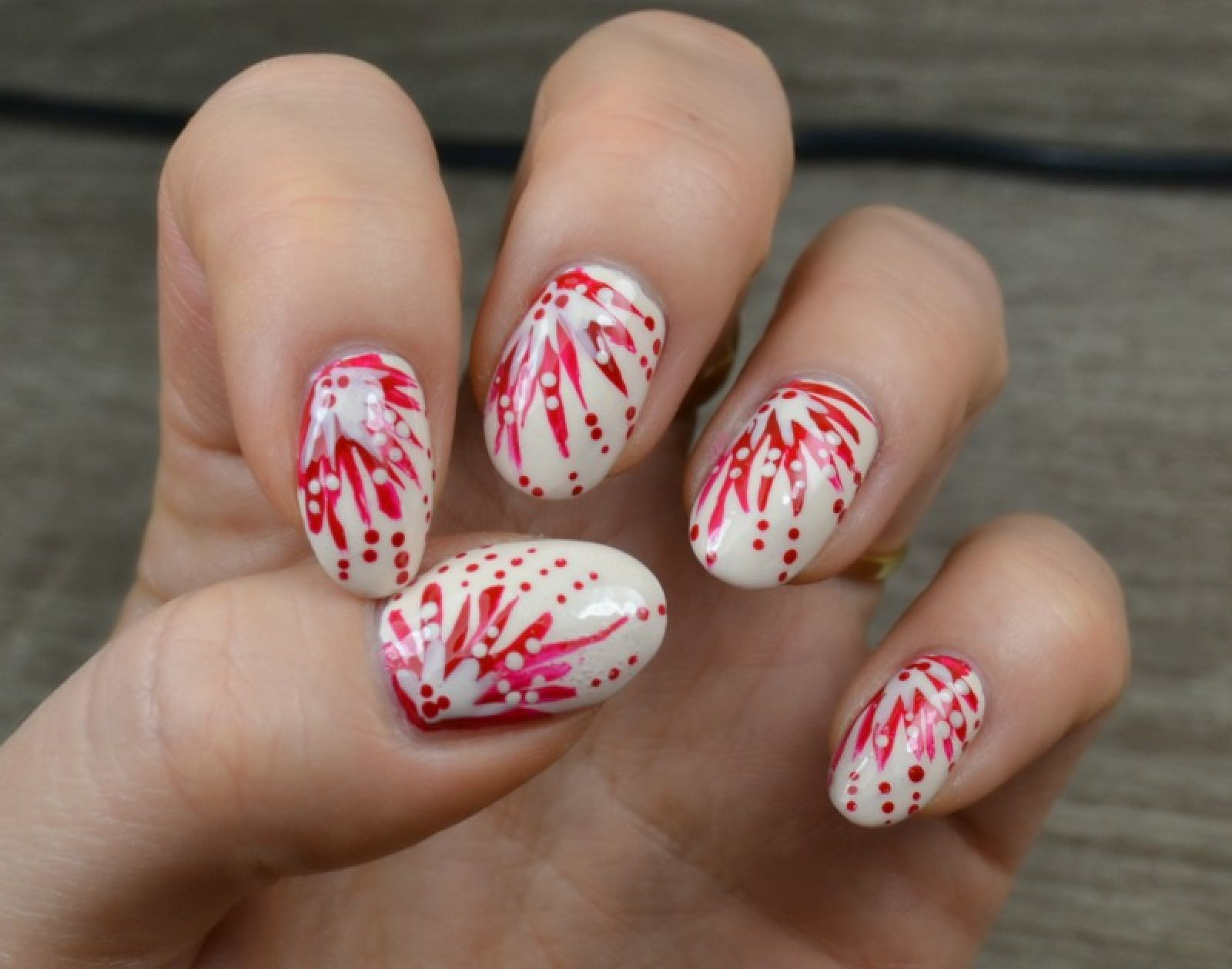 NOTD: red and ivory
