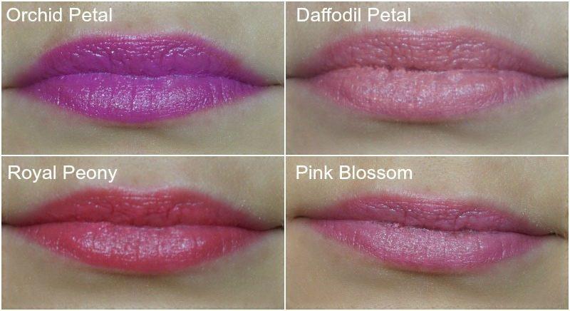 AVON Ultra Color Indulgence Lipstick Orchid Petal, Daffodil Petal, Royal Peony, Pink Blossom