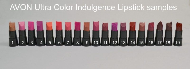 AVON Ultra Colour Indulgence Lipstick samples