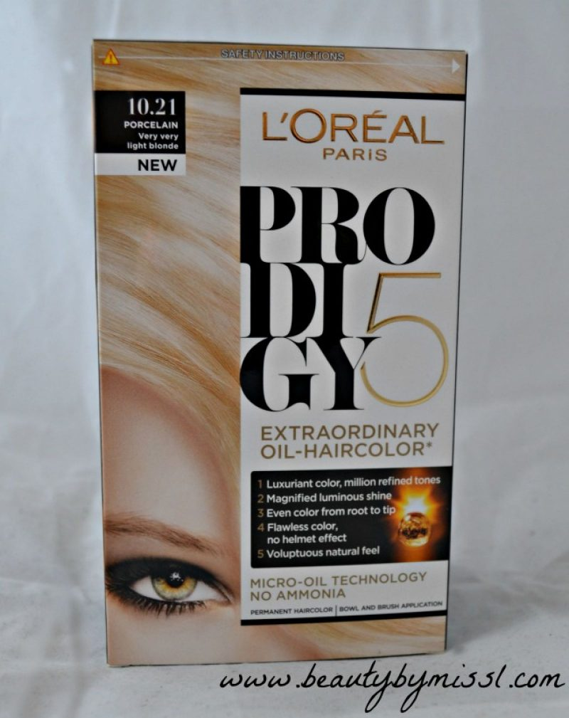 LÓreal Prodigy hair dye in shade10.21 Porcelain