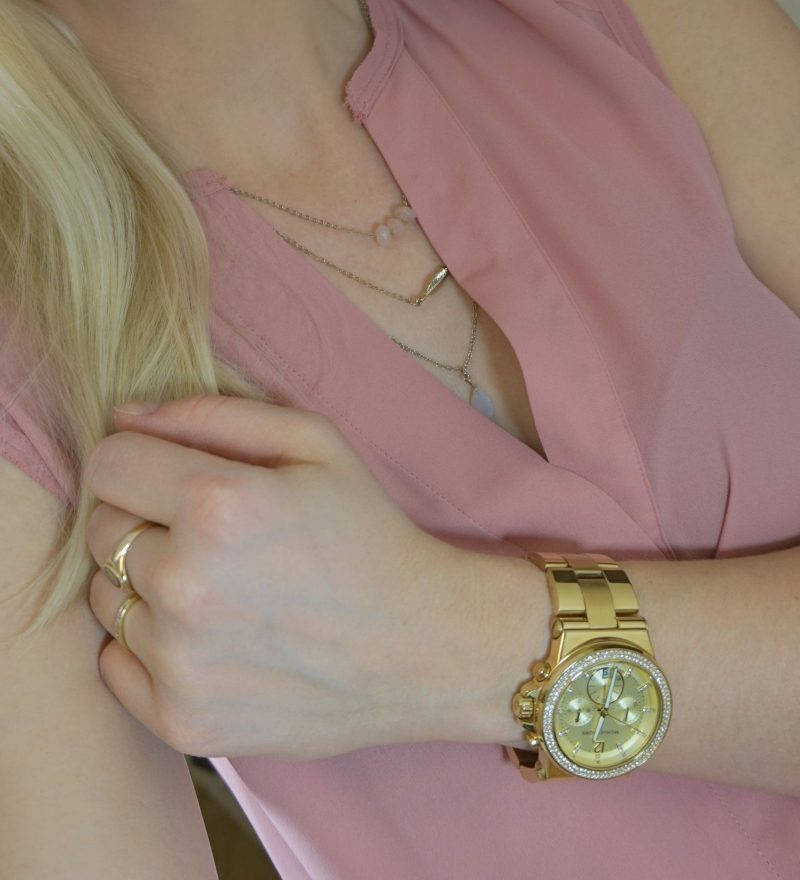 New Look layered necklace Michael Kors watch