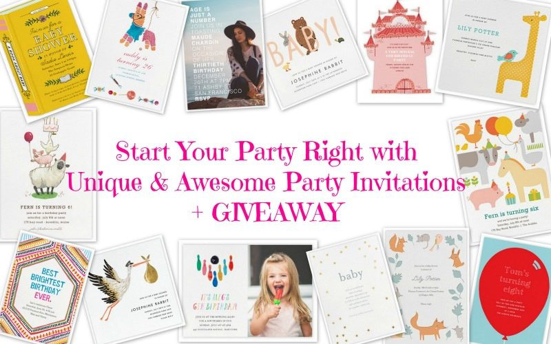 Start Your Party Right with Unique and Awesome Party Invitations + GIVEAWAY