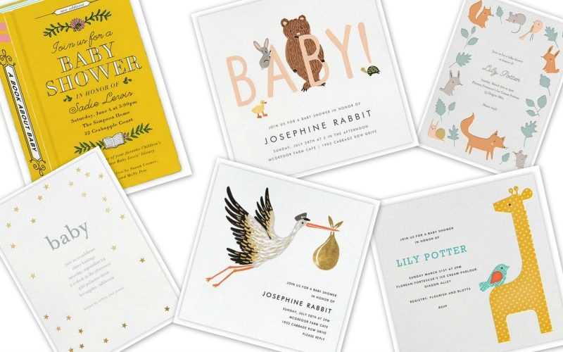 awesome baby shower invitations
