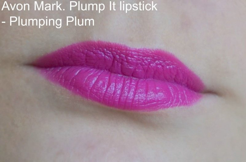 Avon Mark. Plump It lipstick in Plumping Plum