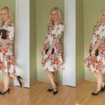 Floral Cocktail Dress, Lotus Mary-Jane shoes and LINK UP