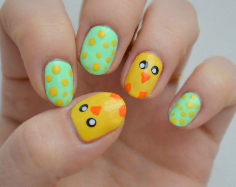 Simple Easter nail art