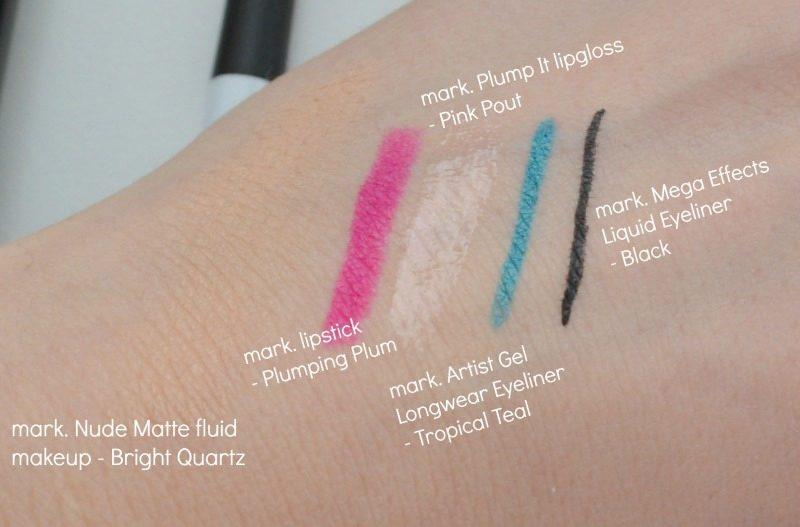 avon mark makeup swatches