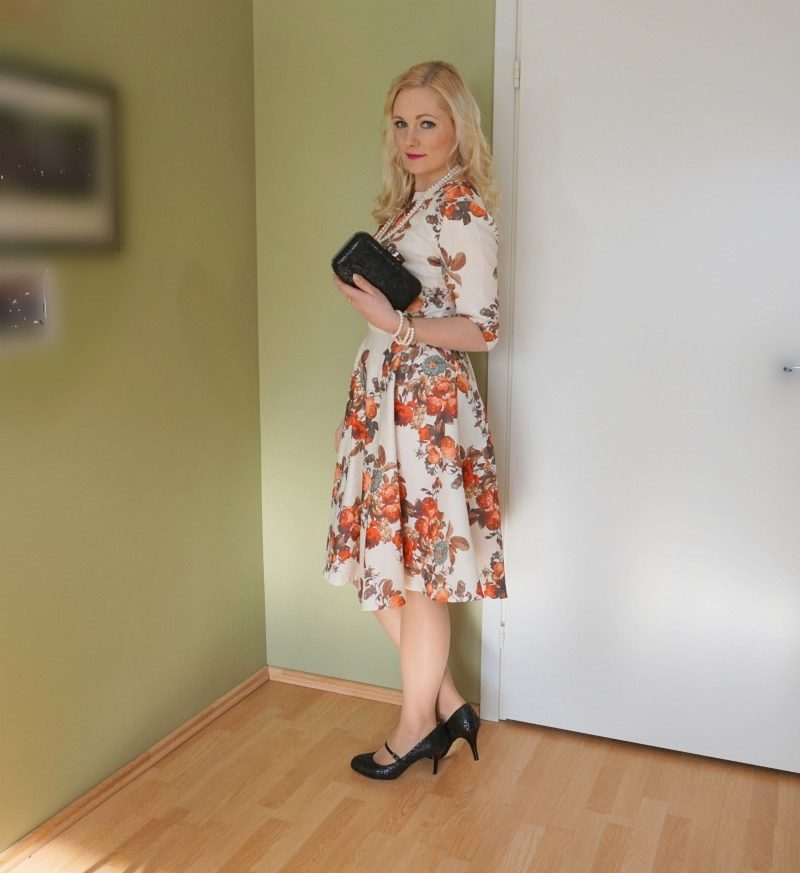 floral print cocktail dress floral print shoes