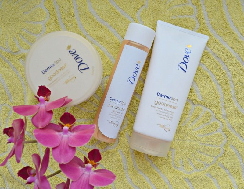 Dove DermaSpa Goodness Body Cream, Body Lotion and Silky Body Oil review