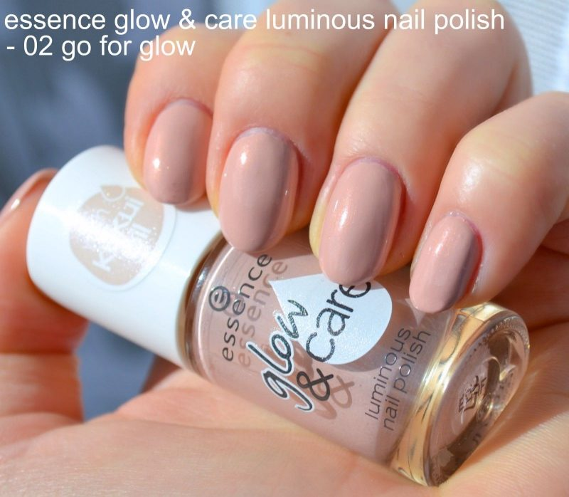 Essence Glow & Care Luminous nail polish in 02 Go For Glow & 06 ...