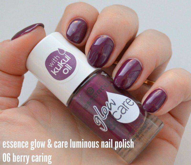 Essence Glow & Care Luminous nail polish 06 Berry Caring
