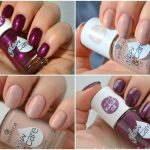 Essence Glow & Care Luminous nail polish in 02 Go For Glow & 06 Berry Caring