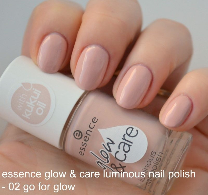 Essence Glow & Care Luminous nail polish in 02 Go For Glow