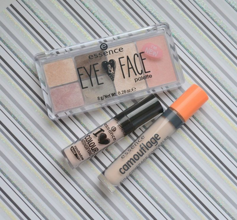 Essence I Love Colour Intensifying eyeshadow base, Essence Eye & Face Palette in 01 Glow For It and Essence Camouflage Full Coverage Concealer in 05 Ivory