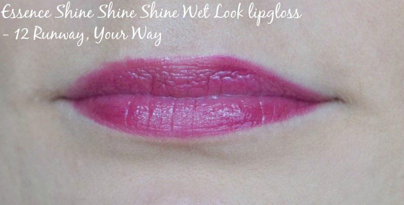Essence Shine Shine Shine Wet Look lipgloss 12 Runway, Your Way swatch