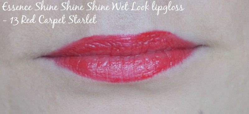 Essence Shine Shine Shine Wet Look lipgloss 13 Red Carpet Starlet swatch
