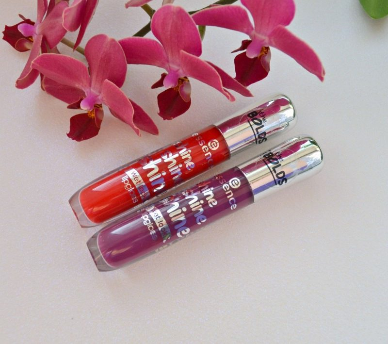 Essence Shine Shine Shine Wet Look lipgloss Red Carpet Starlet & Runway, Your Way swatches and review