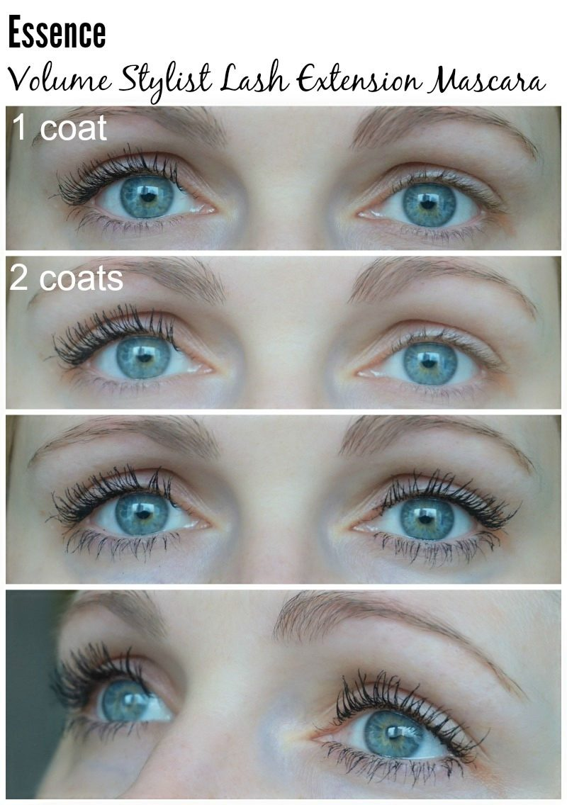 Essence Volume Stylist Lash Extension Mascara before and after