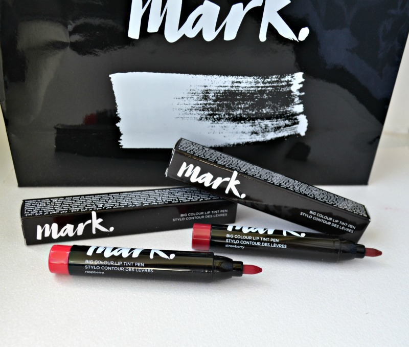 Avon Mark. Big Colour Lip Tint Pen - Strawberry & Raspberry
