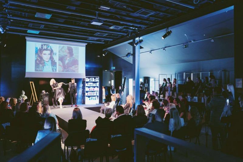 luksulike Oribe juuksehooldus toodete esitlus Baltika Moelaval