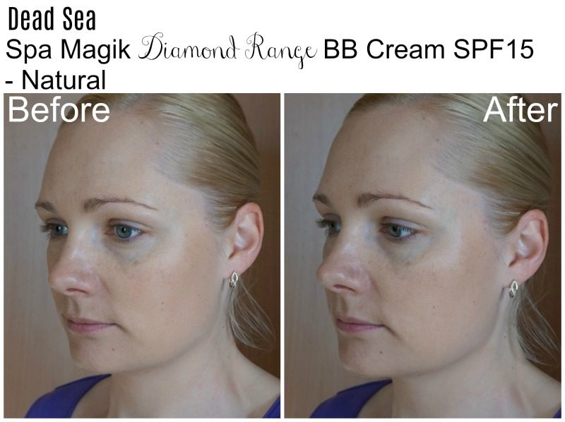 Dead Sea Spa Magik BB Cream SPF15 Natural before after
