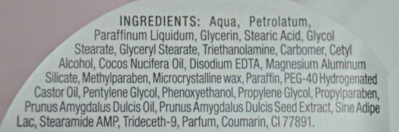 Dove Nourishing Secrets Restoring Ritual Body Cream ingredients