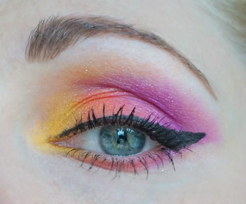 Sunset Inspired Eye Makeup