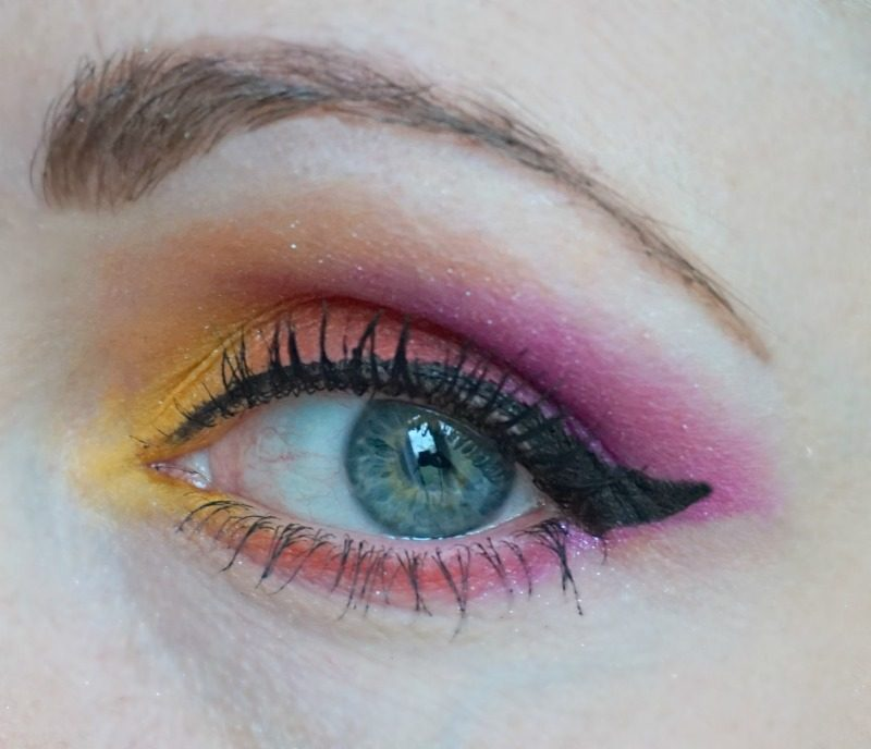 Sunset Inspired Eye Makeup with NYX Ultimate Shadow palette in Brights