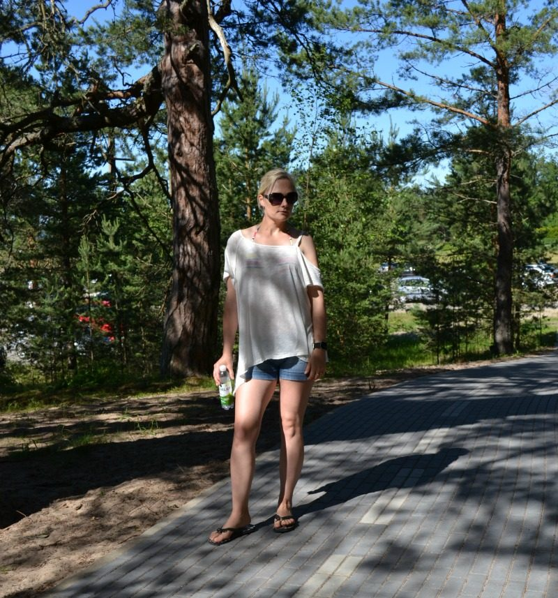Beach outfit feat Free People, s.Oliver & Kate Spade