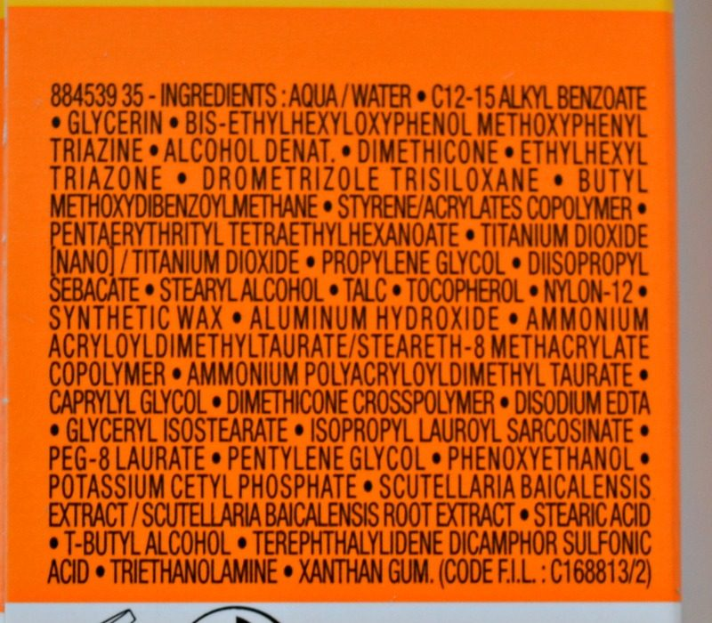 La Roche-Posay Anthelios XL Comfort Cream SPF50+ ingredients