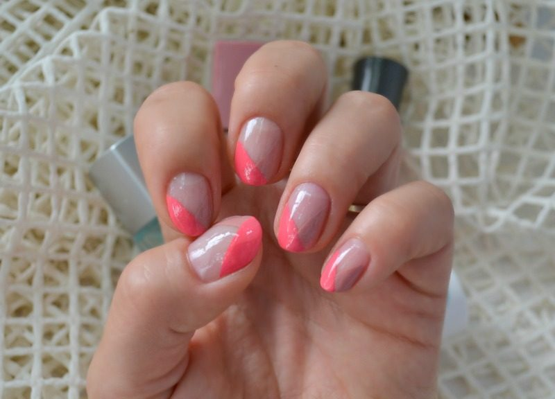 Coral and Dusky Pink French Tips