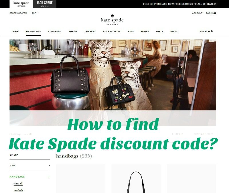 How to find Kate Spade discount code