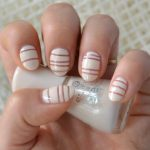 Negative Space Stripes Nail Art