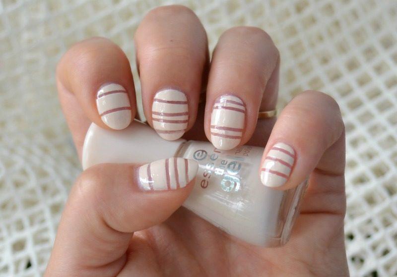 negative space stripes nail art