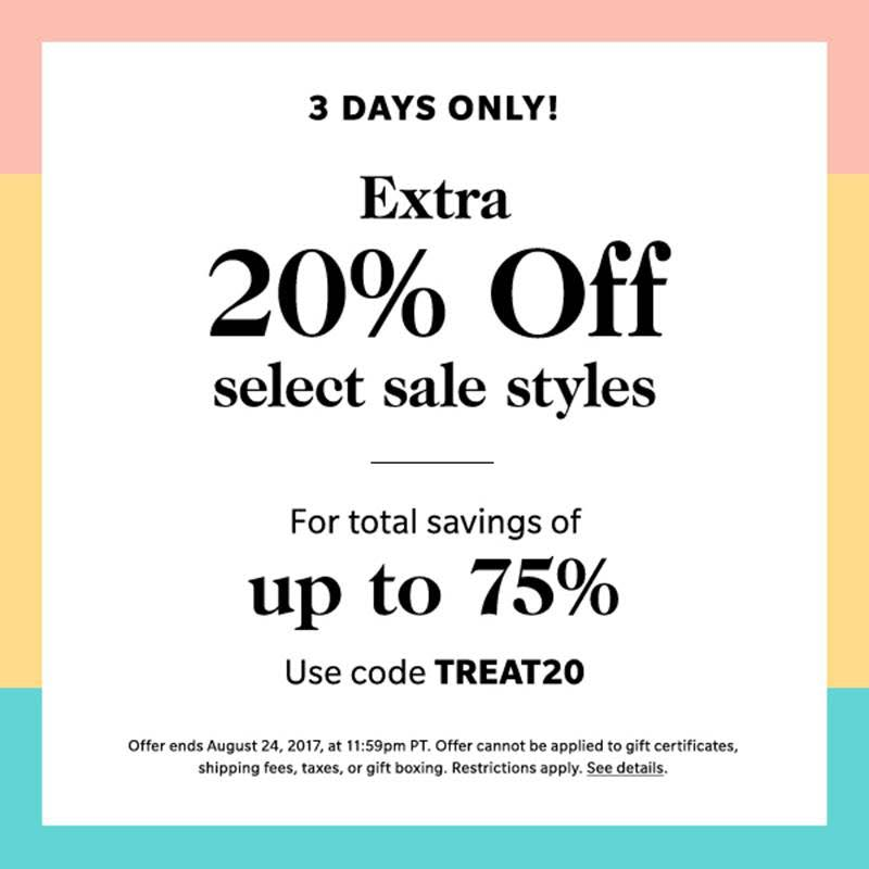 Shopbop SALE on Sale! Save up to 75%!