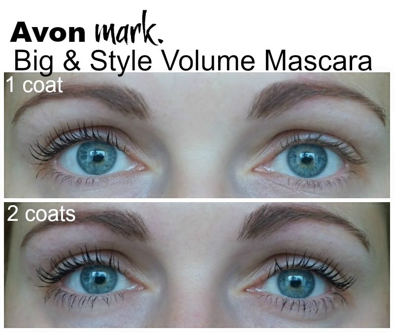 Avon Mark Big & Style Volume Mascara before after