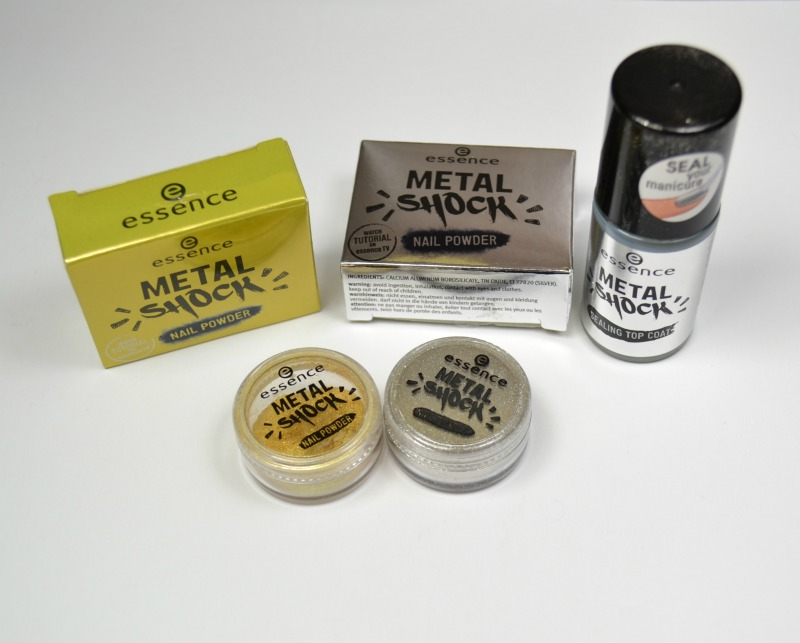 Essence Metal Shock nail powders & how to use them
