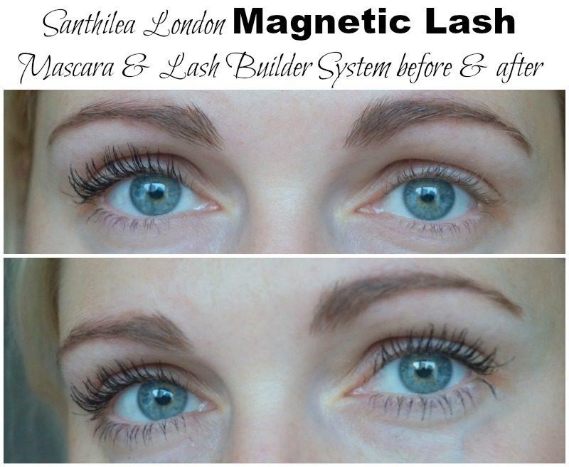 Santhilea London Magnetic Lash Mascara & Lash Builder System before after