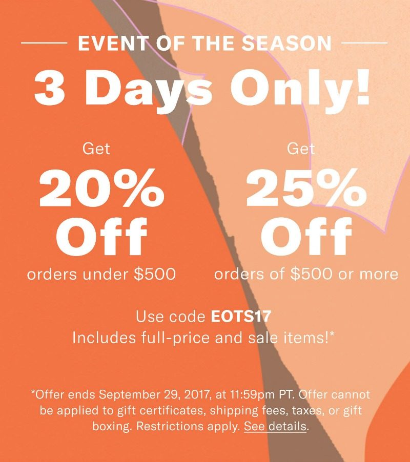 Shopbop sale event