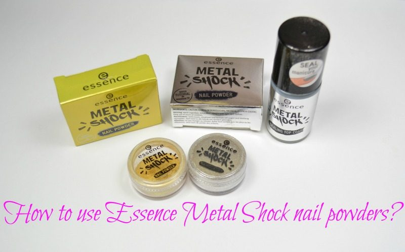 how to use Essence Metal Shock nail powder