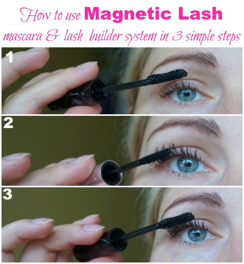 how to use Magentic Lash mascara lash builder system in 3 easy steps