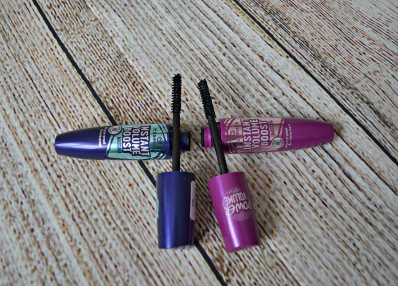 Essence Instant Volume Boost Mascara smudge-proof & intense black and Essence Instant Volume Boost Mascara smudge-proof & waterproof