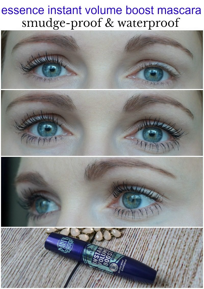 Essence Instant Volume Boost mascara – smudge-proof & waterproof before after