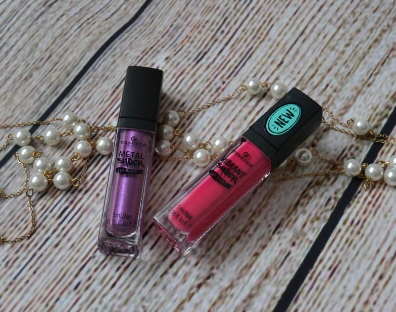 Essence Vibrant Shock Lip Paint & Essence Metal Shock Lip Paint