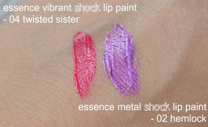 Essence Vibrant Shock Lip Paint & Essence Metal Shock Lip Paint